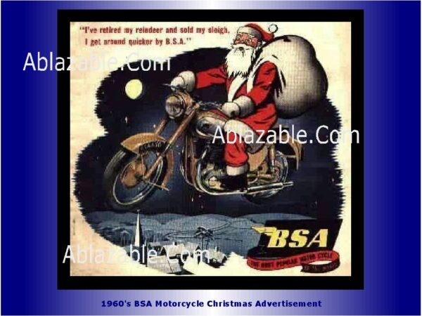 BSA Motorcycle Christmas Ad 1960 with Watermark