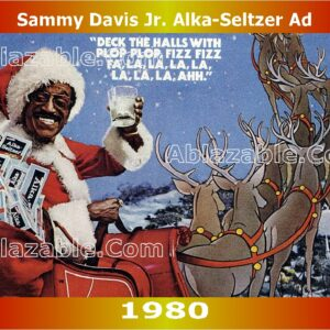 Sammy Davis Jr. Alka-Seltzer Ad From 1980 with Watermark